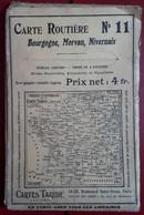 Carte Routière TARIDE - N° 11: Bourgogne, Morvan, Nivernais - Cartes Routières