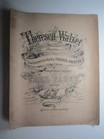 PARTITION THERESEN-WALZER Für Das PIANOFORTE Componirt KRISTER CARL FAUST OP.126.  27 X 34 Cm Env - Musique & Instruments