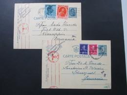 Rumänien 1940 / 41 GA Mit Zusatzfrankuren Nach Deutschland Mit Zensur Der Wehrmacht / Mehrfachzensur! - 2. Weltkrieg (Briefe)
