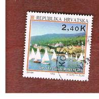 CROAZIA (CROATIA)  - SG 284  -  1994  TOURISM: OPATIJA RIVIERA   -   USED - Croazia