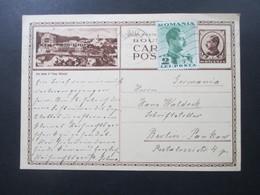 Rumänien 1939 GA Mit Zusatzfrankatur Stempel Sibiu 1 Nach Berlin Pankow An Den Schriftsteller Hans Waldeck Social Philat - 2. Weltkrieg (Briefe)