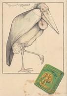CARTE PUB PUBLICITE CIGARETTES SAINT ST MICHEL ADVERTISING CARD ILLUSTRATEUR GERMAINE HAGEMANS CHAROGNARD QUI FUME - Publicité