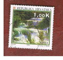 CROAZIA (CROATIA)  - SG 281  -  1994  TOURISM: RIVER KRKA WATERFALLS  -   USED - Croazia