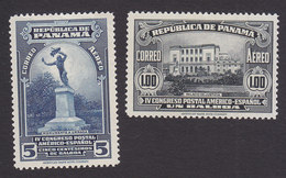 Panama, Scott #C21, C26, Mint Hinged, Urraca Monument, Palace Of Justice, Issued 1936 - Panama
