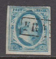 The Netherlands Used NVPH Nr 1 From 1852 / Catw 45.00 EUR - 1852-1890 (Wilhelm III.)