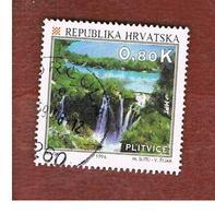 CROAZIA (CROATIA)  - SG 280  -  1994  TOURISM: PLITVICE LAKES  -   USED - Croazia