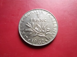FRANCE   1  Franc   1962   -- TTB+ -- - France