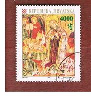 CROAZIA (CROATIA)  - SG 262  -  1993 CHRISTMAS: NATIVITY (FRESCO)    -   USED - Croazia