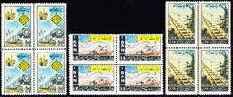 1957 Eisenbahnlinie Michel Nr. 993-95 Serie Postfrisch, Gebräunter Gummi - Iran