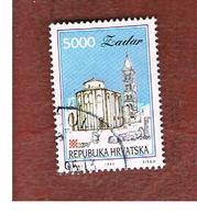 CROAZIA (CROATIA)  - SG 213  -  1993 CROATIAN TOWNS: ZADAR   -   USED - Croazia