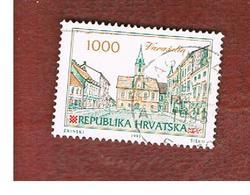 CROAZIA (CROATIA)  - SG 211  -  1993 CROATIAN TOWNS: VARAZDIN   -   USED - Croazia