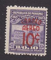 Panama, Scott #C35, Mint Hinged, Monument Surcharged, Issued 1937 - Panama