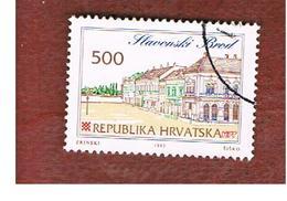 CROAZIA (CROATIA)  - SG 210  -  1993 CROATIAN TOWNS: SLAVONSKI BROD   -   USED - Croazia