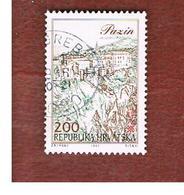CROAZIA (CROATIA)  - SG 209  -  1993 CROATIAN TOWNS: PAZIN  -   USED - Croazia