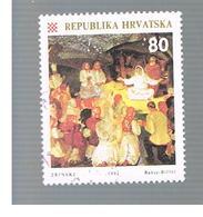 CROAZIA (CROATIA)  - SG 207  -  1992 CHRISTMAS  -   USED - Croazia