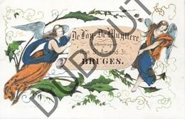 Porseleinkaart - Carte Porcelaine BRUGGE De Lay-De Muyttere Lithographie Rue St Amand  6,1 X 9,8 Cm (G152) - Brugge