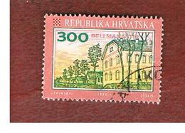 CROAZIA (CROATIA)  - SG 182  -  1992 CROATIAN TOWNS: BELI MANASTIR  -   USED - Croazia