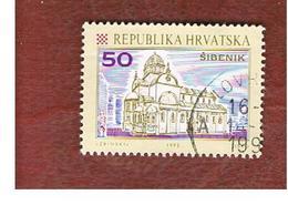 CROAZIA (CROATIA)  - SG 181  -  1992 CROATIAN TOWNS: CATHEDRAL, SIBENIK  -   USED - Croazia