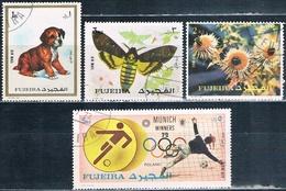 Fujeira 1972  -  Michel  1300 + 1330 + 1335 + 1422   ( Usados ) - Fujeira