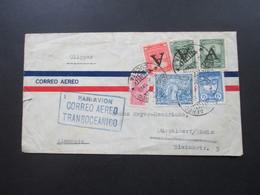 Kolumbien 1950 Luftpost Via Clipper Par Avion CorreoAereo Transoceanico Mit 6 Marken / 3 Marken Mit Aufdruck A - Colombia