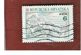 CROAZIA (CROATIA)  - SG 154  -  1992  CROATIAN TOWNS: KNIN   -   USED - Croazia