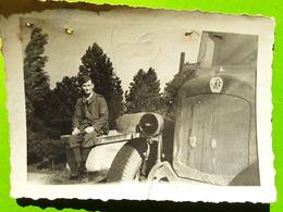 RARE Photo Originale Guerre 1939 - 1945,MERCIER Roger Prisonnier Matricule 62008 Camion STALAG XI B, Fallingbostel, - Guerre, Militaire