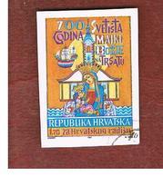 CROAZIA (CROATIA)  - SG 151  -  1991 OBLIGATORY TAX: SHRINE OF THE VIRGIN (IMPERFORATED) -   USED - Croazia