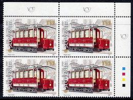 SLOVENIA 2001 Centenary Of Ljubljana Trams Block Of 4 MNH / **. Michel 357 - Slowenien