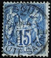 -Sage N°90 Type Ll  .O. ( CAD ) VESOUL 14 Aôut 1887. - 1876-1898 Sage (Type II)