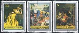 Fujeira 1972  -  Michel  1362 + 1363 + 1365    ( Usados ) - Fujeira