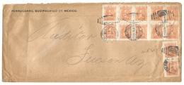 Mexico - XX. 1916. Stat, Sonora - USA. Multifkd Env Bearing 5c Orange X12 Incl Block Of 10. Espectacular. - Mexique