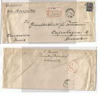 RUSSIA. 1921 (2 Dec). Overprint East Siberia Issue Vladivostock - Denmark, Copenhagen. Via London (13 Jan 22). Endorsed - Non Classificati