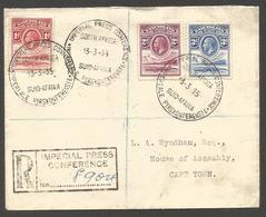 BC - Basutoland. 1935 (13 March). Imperial Press Conference . Cape Towns House Of Parliament. Reg Multifkd Env 6d Rate B - Non Classificati