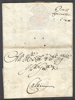 Italy - Prephilately. 1688 (27 Ago). Roma - Calvi. EL. Full Text Contains Reverse Albino Embossed Seal Mns Charge Anotat - Italy