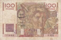 BILLETE DE FRANCIA DE 100 FRANCOS DEL 6-8-1953   (BANKNOTE) JEUNE PAYSAN - 1871-1952 Anciens Francs Circulés Au XXème