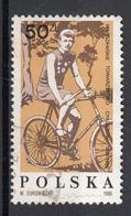 Polonia  1986 Sc. 2781 Henryk Weiss Dynasty Champion CTO Poland Polska - Ciclismo