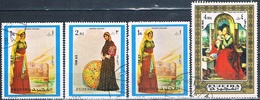 Fujeira 1972  -  Michel  880 + 1385 + 1386 + 1387     ( Usados ) - Fujeira