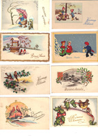 """Lot De 22  Mignonettes  """"Bonne Année""""  Ou """"Heureuse Année"""" 20.- """" Heureux Noël """" + Un Petit Père Noël - 2 - Neujahr"""