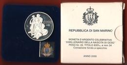 San Marino 10000 Lire 2000 Bimillenario Gesù Jesu Silver Saint Marin PROOF - San Marino