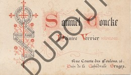 Porseleinkaart - Carte Porcelaine BRUGGE Samuel Coucke Peintre Verrier 6 X 9,6 Cm (G138) - Brugge