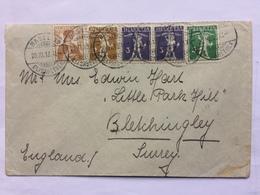 SWITZERLAND 1913 Cover Basel To Bletchingley England - Switzerland