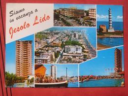 """Jesolo (Venezia) Lido - Mehrbildkarte """"Siamo In Vacanza A Jesolo Lido"""" - Italia"""