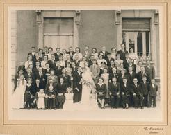 54) PIENNES : Grande Photographie De Mariage Par CAUMAS - (23,5 X 31 Cm) - France