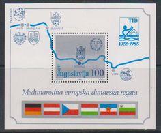 Yugoslavia 1985 Eur. Danube Regata M/s ** Mnh (42648) - Blokken & Velletjes