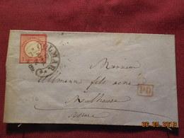 Lettre De 1874 D'Allemagne à Destination De Mulhouse - Germania