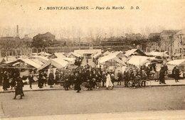 MONTCEAU LES MINES - Place Du Marché - Montceau Les Mines