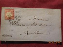 Lettre De 1873 D'Allemagne à Destination De Mulhouse - Germania