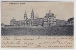 Portugal-  Postal Antigo -Convento De Mafra Circulou 1-1-1905 - Portugal