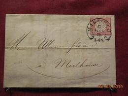 Lettre De 1873 D'Allemagne à Destination De Mulhouse - Lettres & Documents