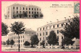 Epinal - 2 Vues - Quartier De Reffye - 8e R.I. Militaire - La Cour - Phototypie PAUL TESTART - 1907 - Epinal